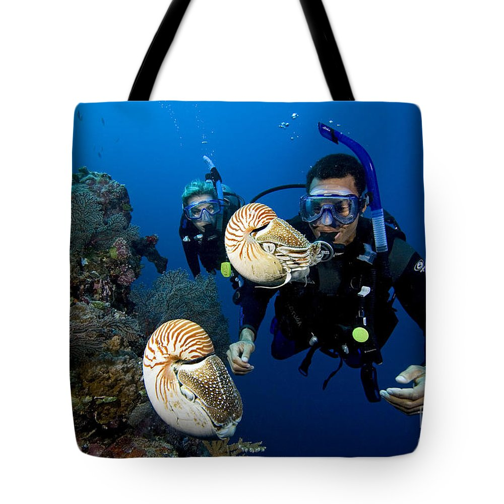 Adventure Tote Bag featuring the photograph Palau Underwater by Dave Fleetham - Printscapes