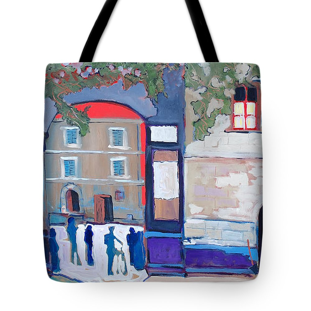 Village Tote Bag featuring the painting Palazzo Di Villafranca by Kurt Hausmann