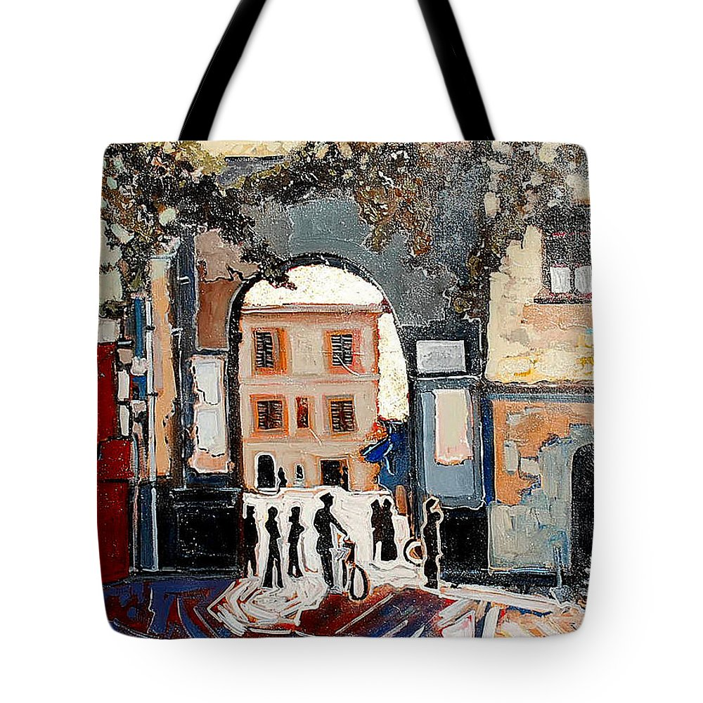 Tuscany Tote Bag featuring the painting Palazzo Vecchio by Kurt Hausmann