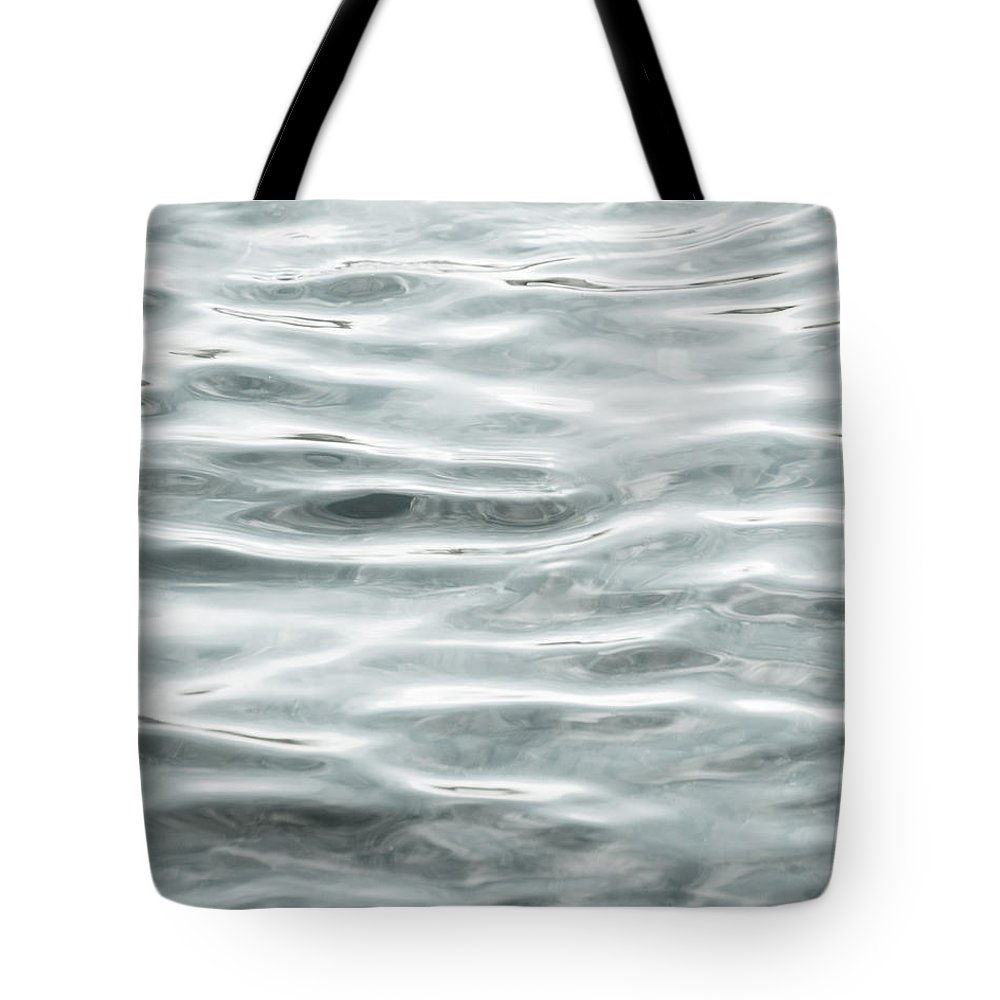 Water Tote Bag featuring the photograph Pale Aqua Water Ripples by Jim And Emily Bush