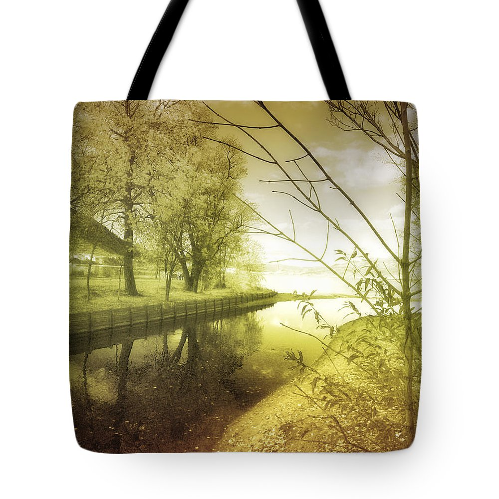 River Tote Bag featuring the photograph Pale Reflections Of Life by Tara Turner