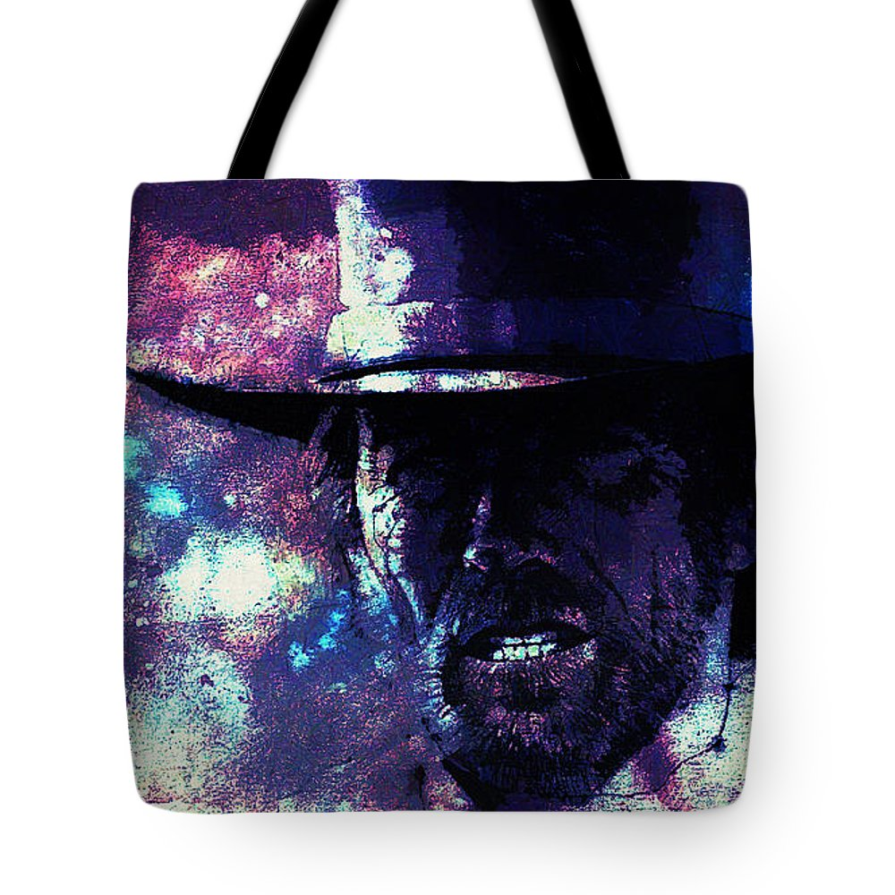 Pale Rider Tote Bag featuring the digital art Pale Rider by Lora Battle