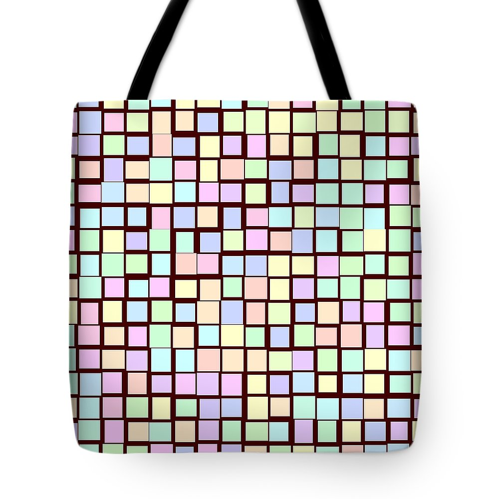 Rithmart Pale Red Dark Colors Rectangles Squares Tote Bag featuring the digital art Pale.35 by Gareth Lewis