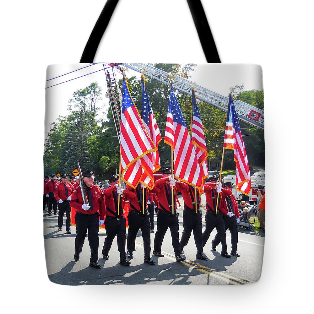 Palenville Fire Department Tote Bag featuring the photograph Palenville Fire Department 3 by Jeelan Clark