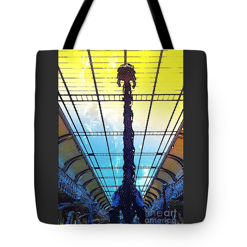 Diplodocus Tote Bag featuring the photograph Paleo Diplo by Helge
