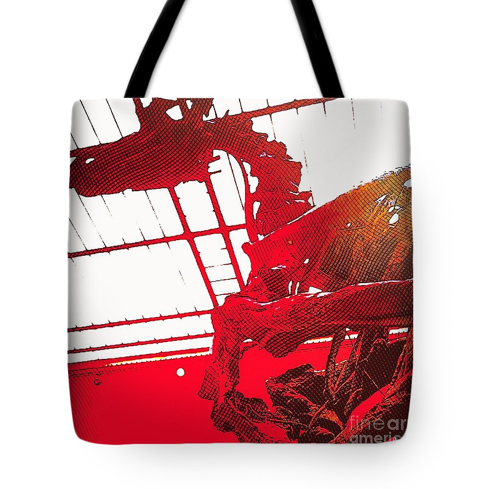 Dinosaur Tote Bag featuring the photograph Paleo Figther by Helge