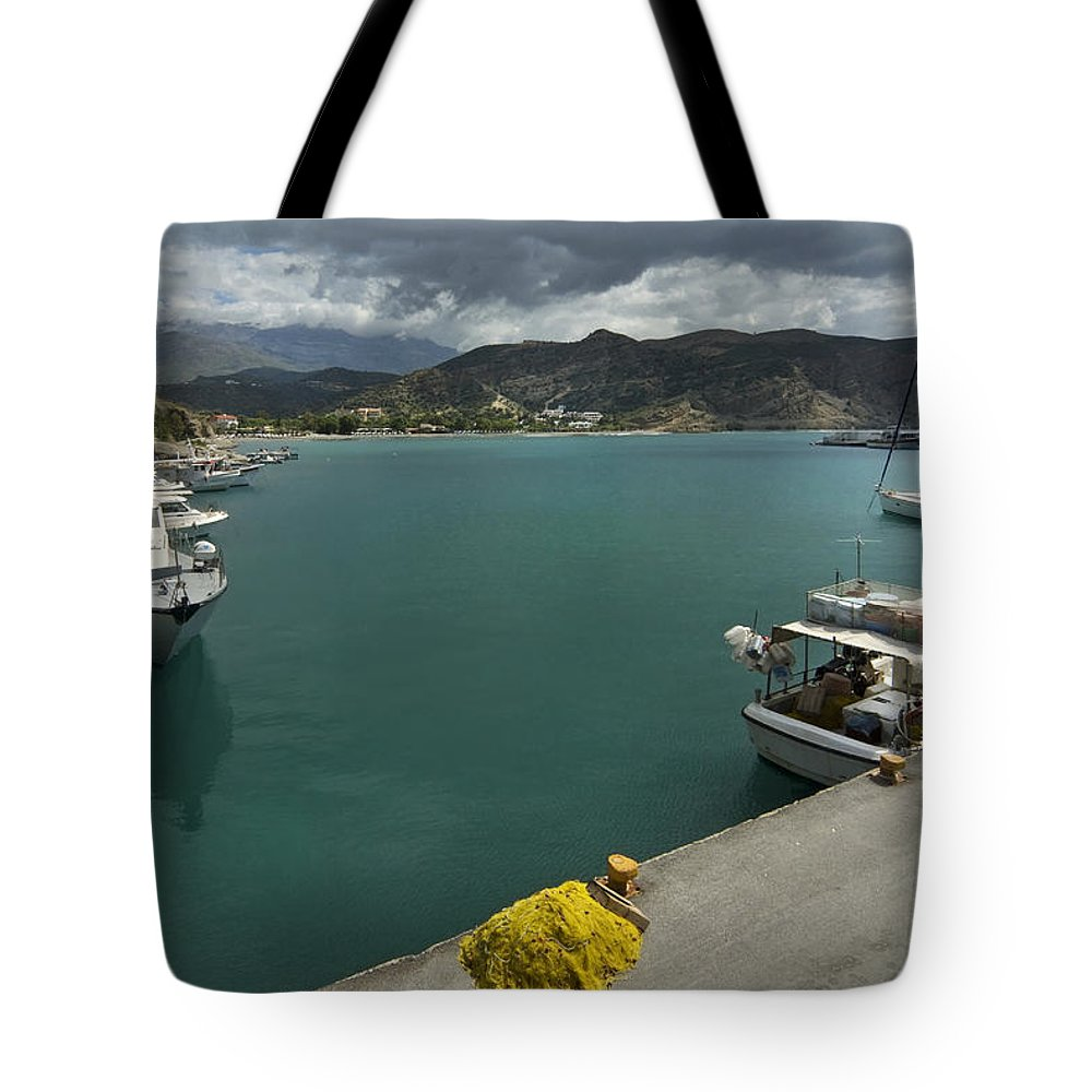 Paleohora Tote Bag featuring the photograph Paleohora by Robert Lacy