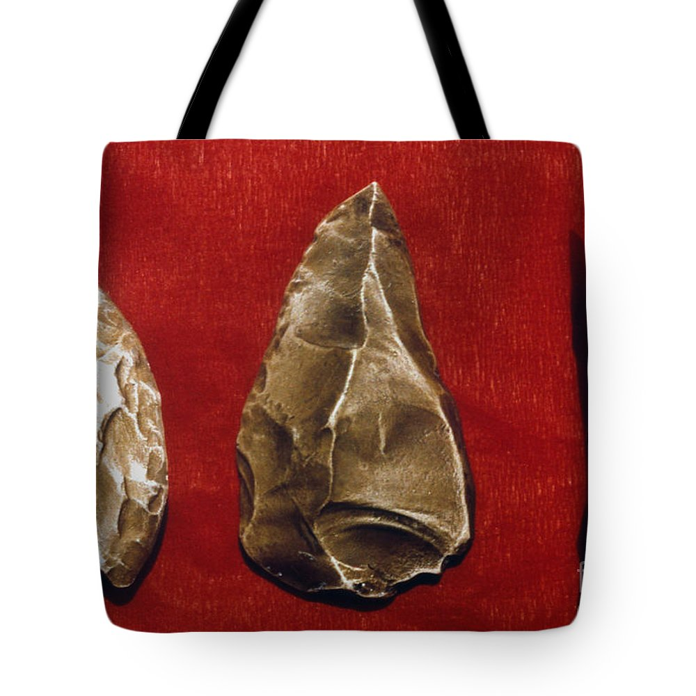Ancient Tote Bag featuring the photograph Paleolithic Tools by Granger