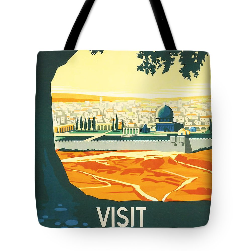 Ancient Tote Bag featuring the digital art Palestine by Georgia Fowler
