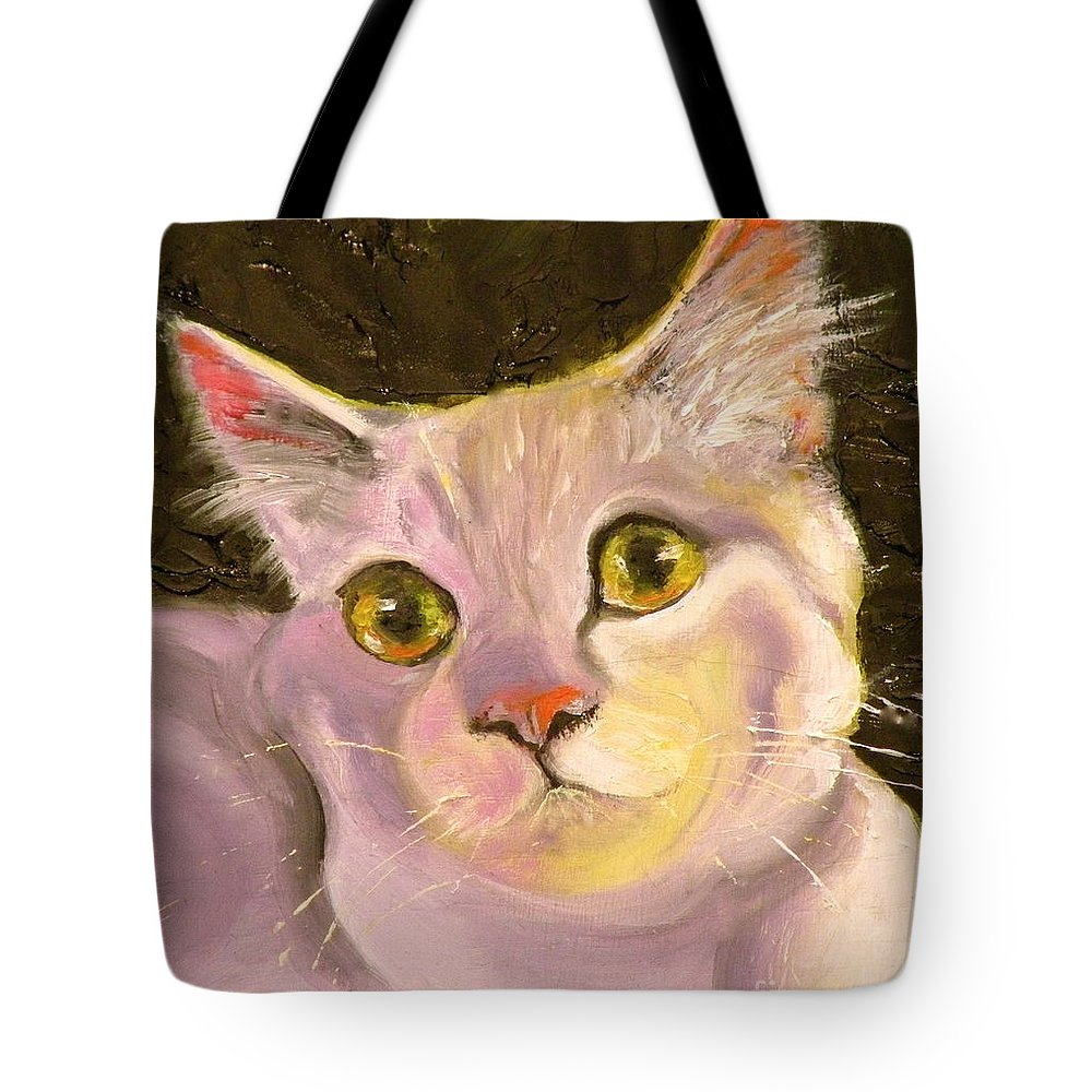 Cat Tote Bag featuring the painting Best Friend by Susan A Becker