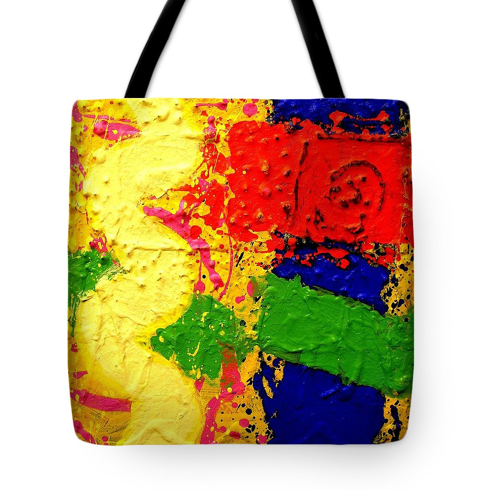Abstract Tote Bag featuring the painting Palipmsest 001 by John Nolan