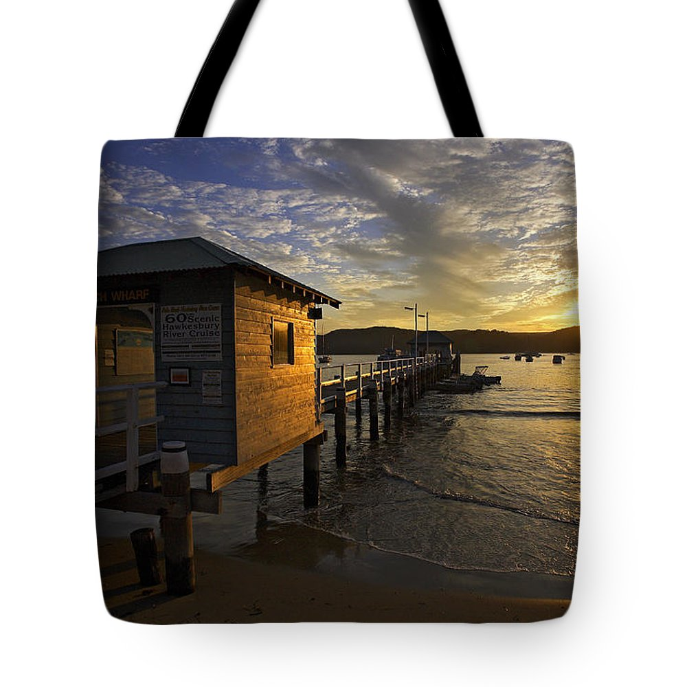 Palm Beach Sydney Australia Sunset Water Pittwater Tote Bag featuring the photograph Palm Beach Sunset by Sheila Smart Fine Art Photography
