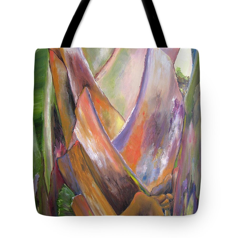 Landscape Tote Bag featuring the painting Palm by Lisa Boyd