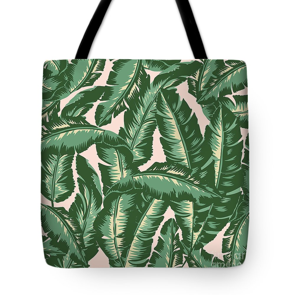 Leaves Tote Bag featuring the digital art Palm Print by Lauren Amelia Hughes