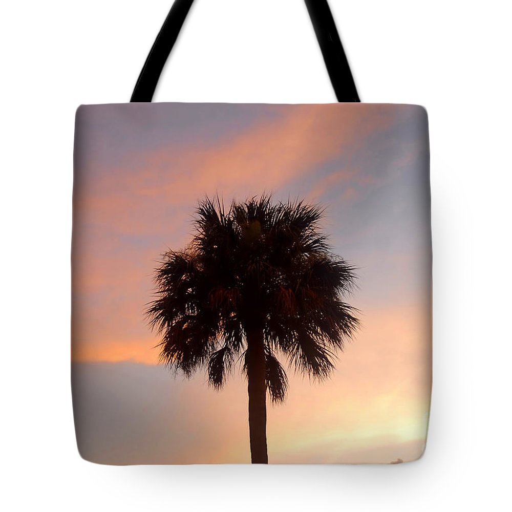 Palm Tree Tote Bag featuring the photograph Palm Sky by David Lee Thompson