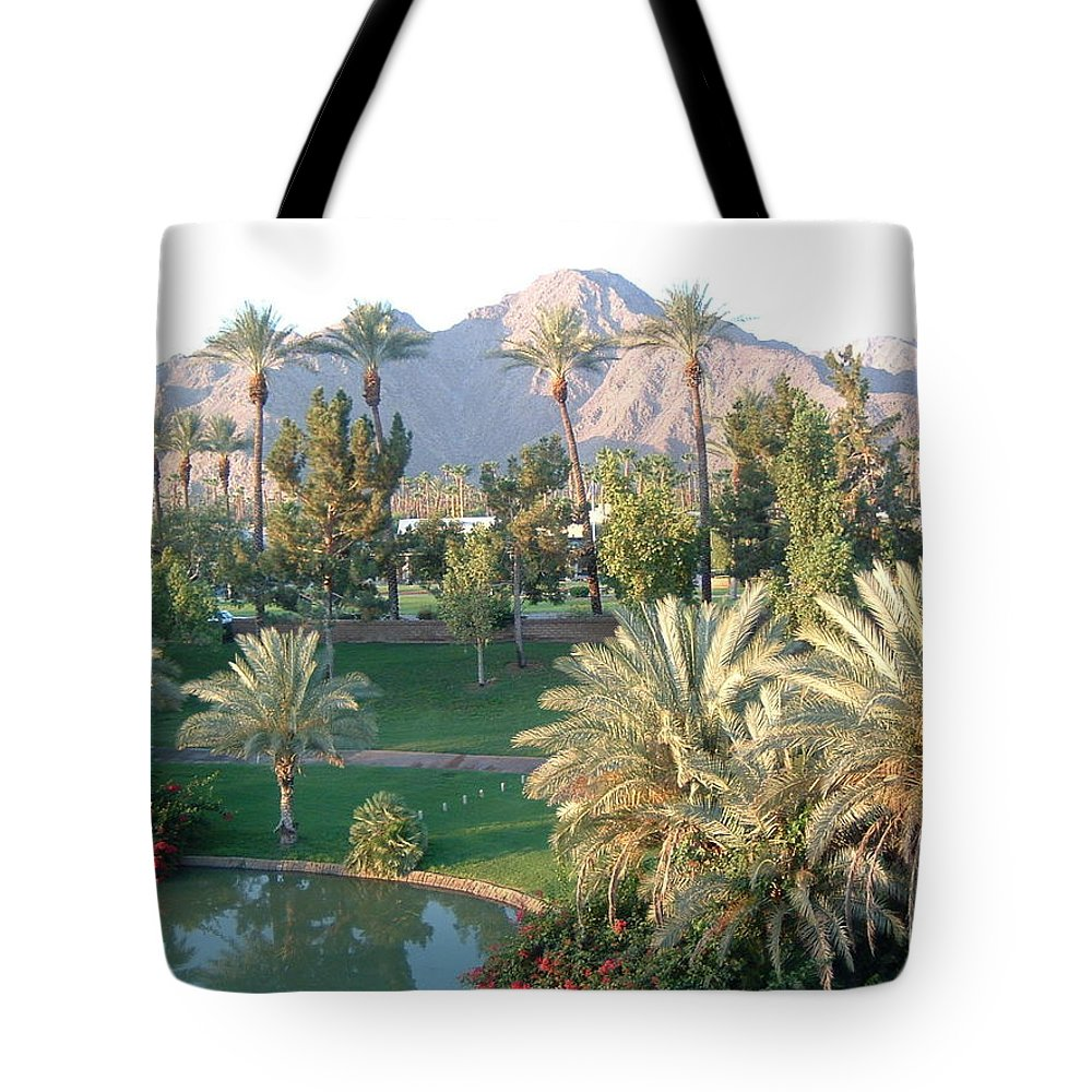 Landscape Tote Bag featuring the photograph Palm Springs Ca by Cheryl Ehlers