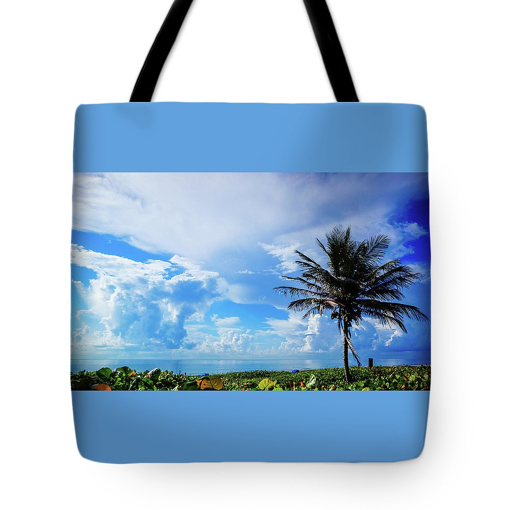 Florida Tote Bag featuring the photograph Palm Tree Dream Delray Beach Florida by Lawrence S Richardson Jr
