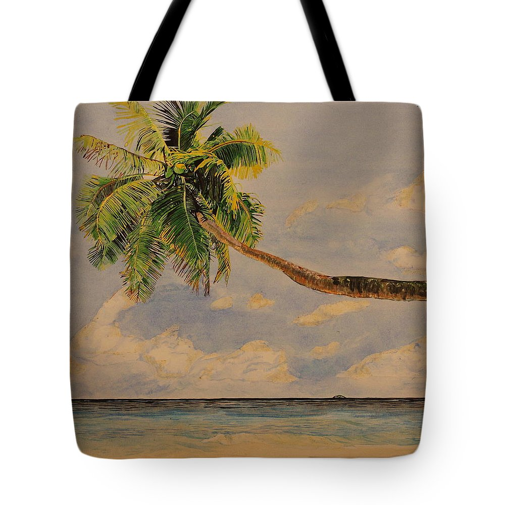 Palm Tree Tote Bag featuring the painting Palm Tree by Michelle Miron-Rebbe