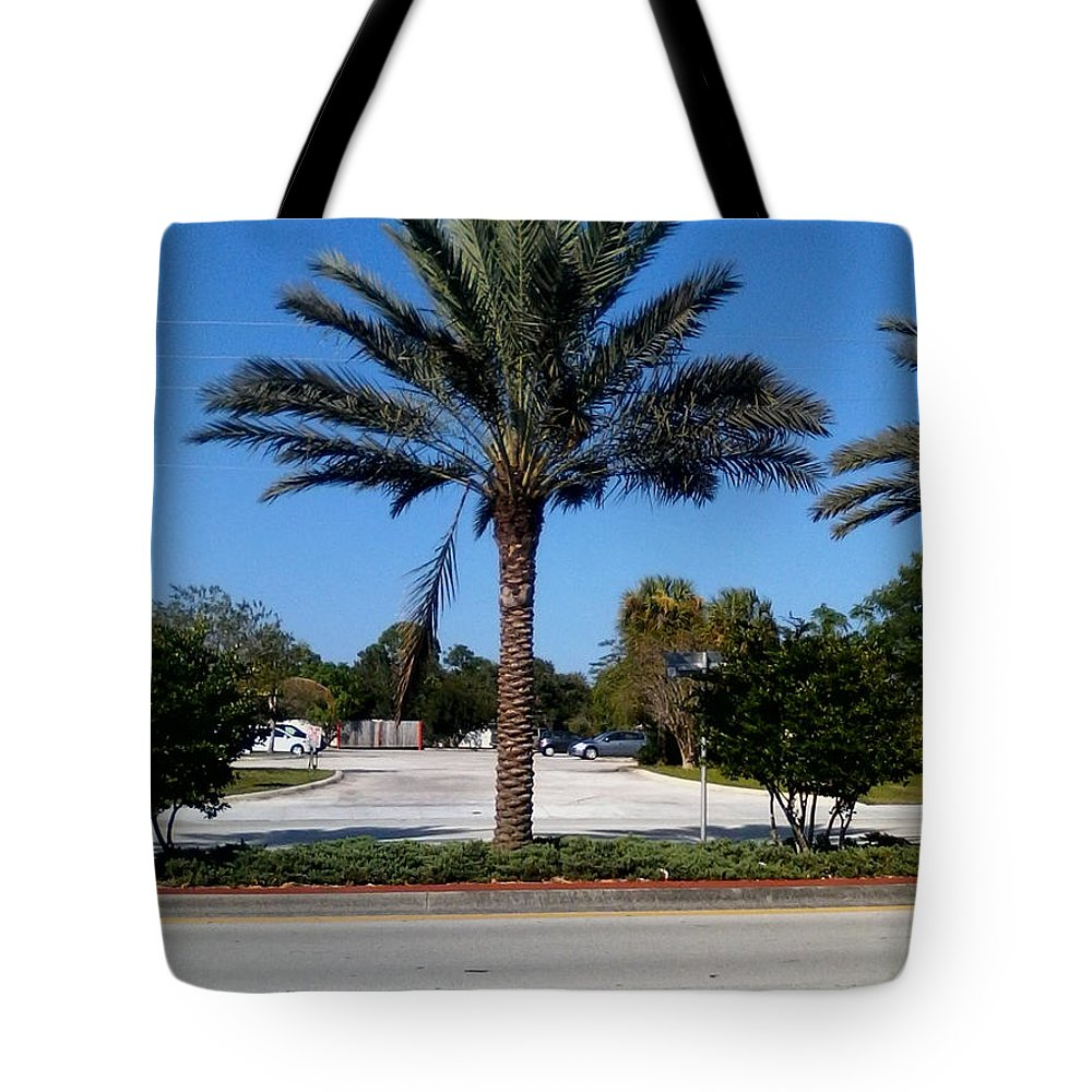 Tote Bag featuring the painting Palm Tree Psl. by Dutch MARCHING