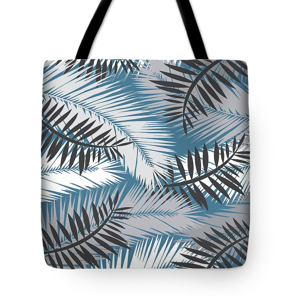 Summer Tote Bag featuring the digital art Palm Trees 10 by Mark Ashkenazi
