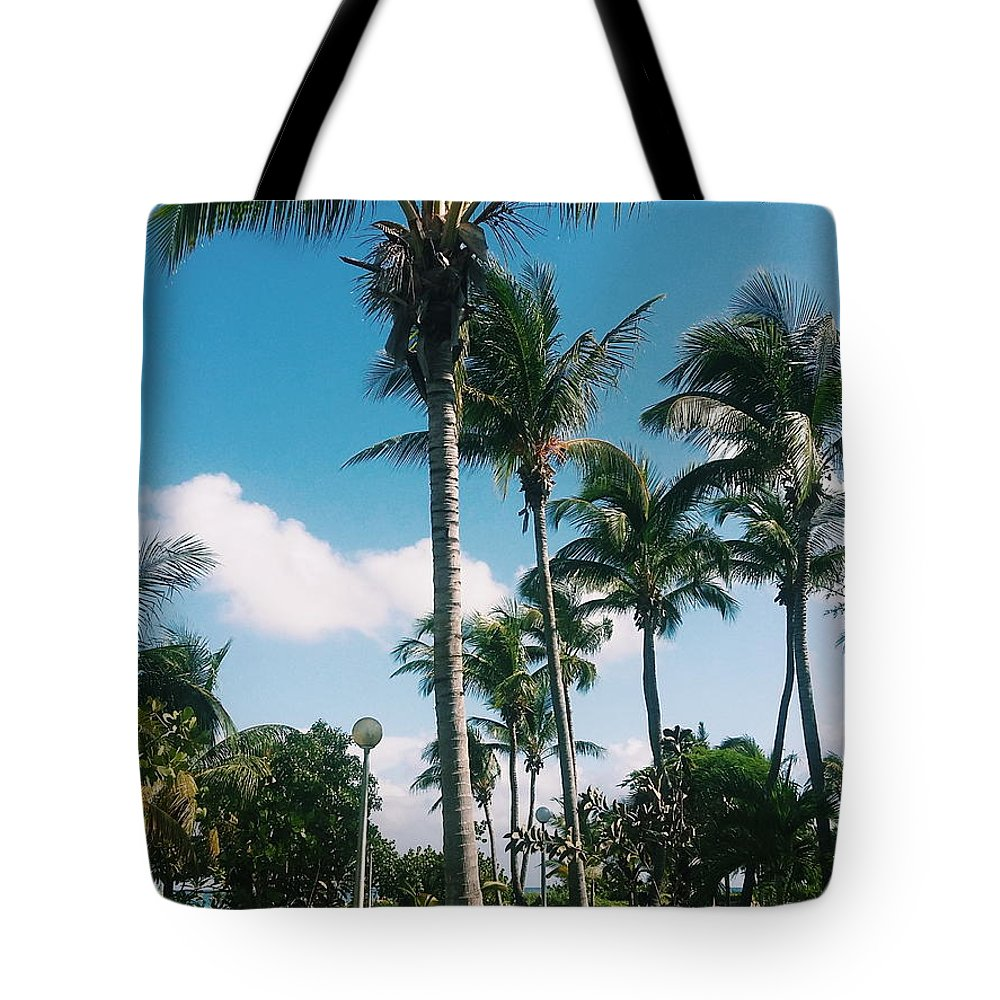 Palm Trees Tote Bag featuring the photograph Palm Trees by Eloviano Maya