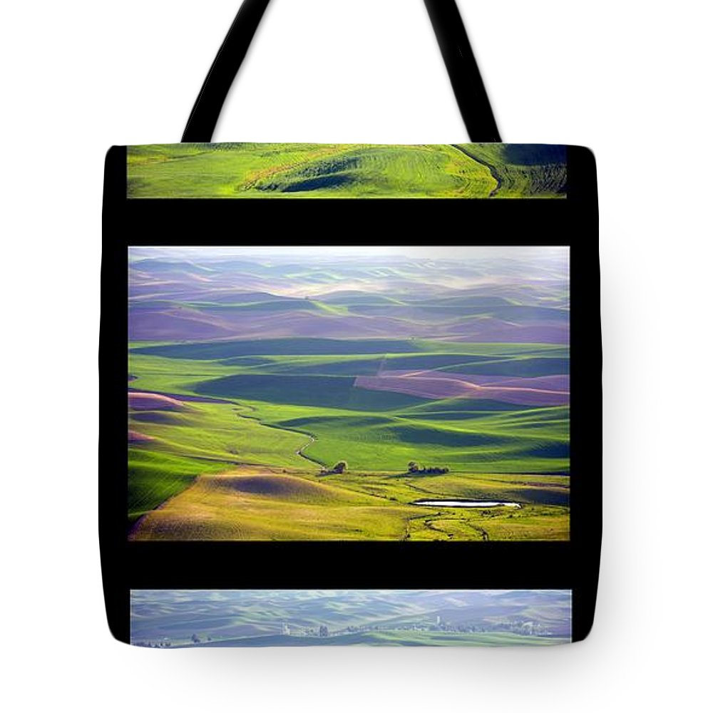 Trio Tote Bag featuring the photograph Palouse Trio by Idaho Scenic Images Linda Lantzy