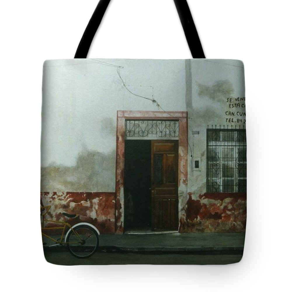 Hyperrealism Tote Bag featuring the painting Pan Dulce Man by Michael Earney