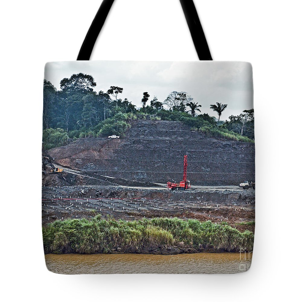 Canal Tote Bag featuring the photograph Panama056 by Howard Stapleton
