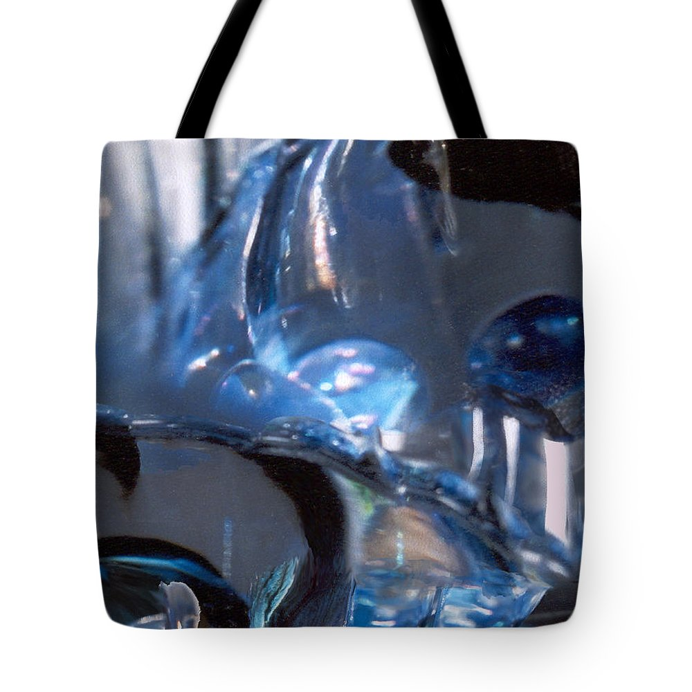 Glass Tote Bag featuring the photograph Panel 2 From Swirl by Steve Karol