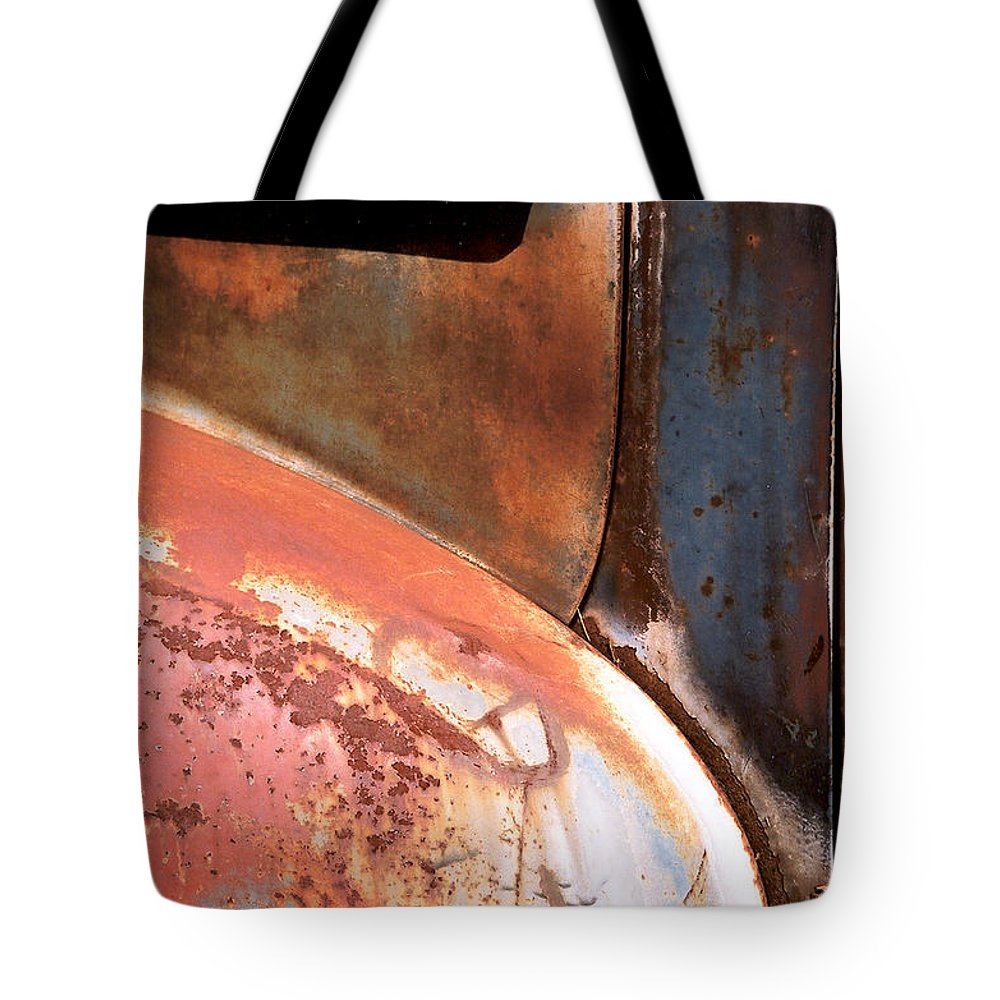 Abstract Tote Bag featuring the photograph Panel from Ole Bill by Steve Karol