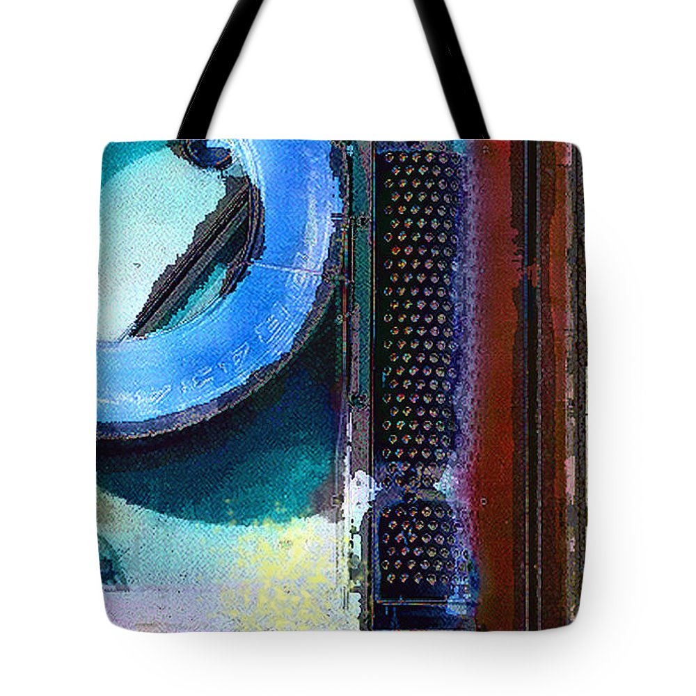 Abstract Tote Bag featuring the photograph panel one from Centrifuge by Steve Karol