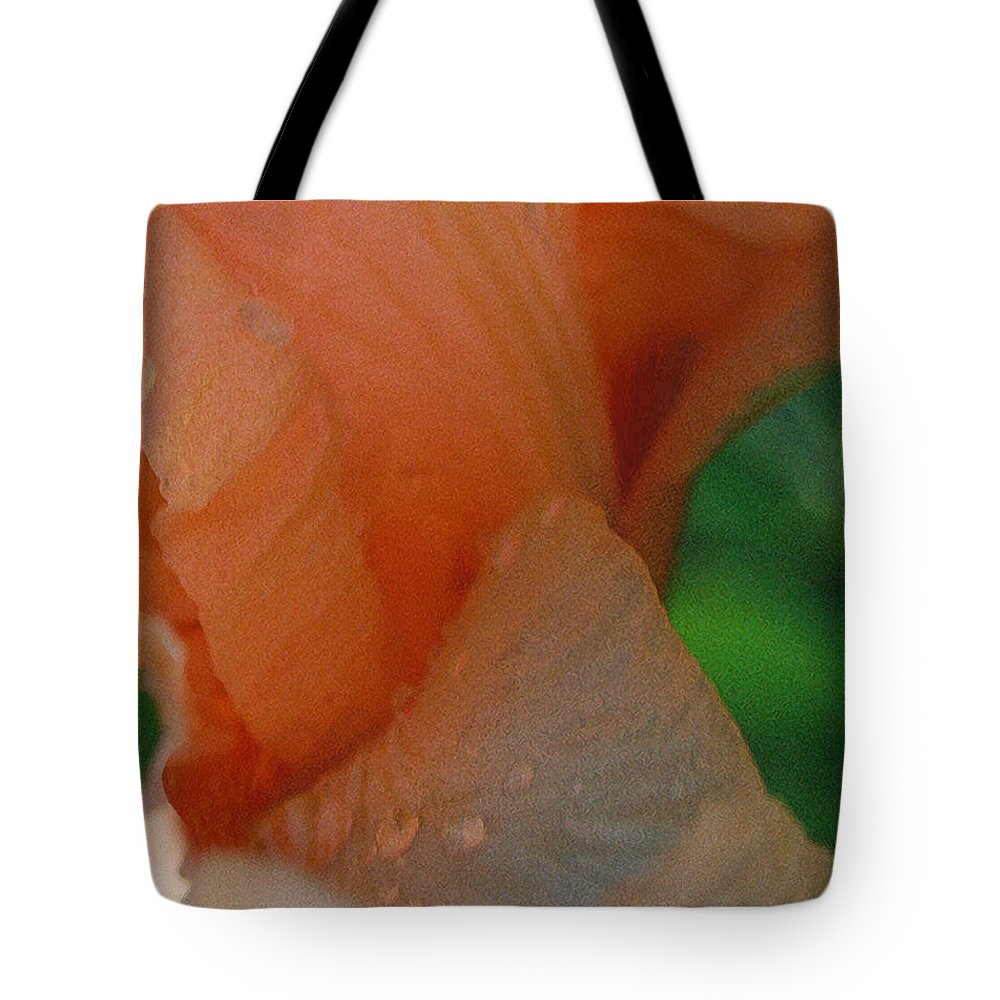 Abstract Tote Bag featuring the photograph Panel One From Iris by Steve Karol
