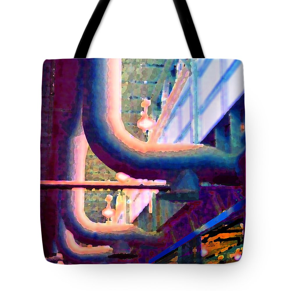 Abstract Tote Bag featuring the photograph panel one from Star Factory by Steve Karol