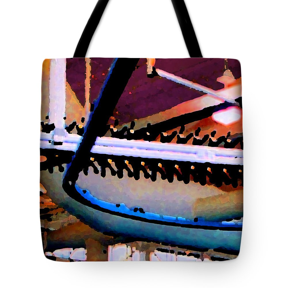 Abstract Tote Bag featuring the photograph Panel Three From Star Factory by Steve Karol