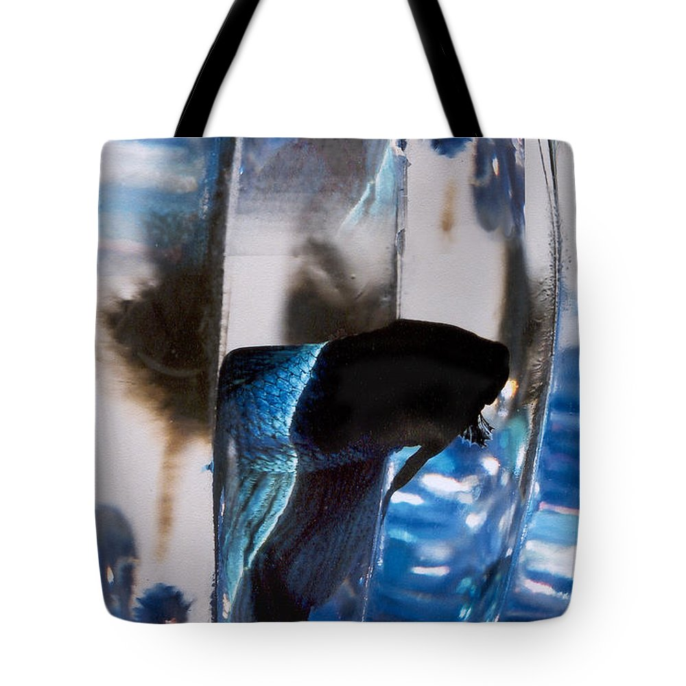 Abstract Tote Bag featuring the photograph panel three from Swirl by Steve Karol