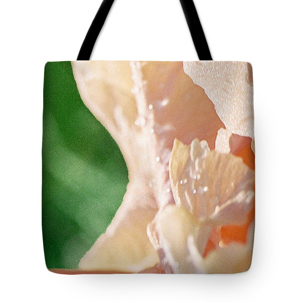 Abstract Tote Bag featuring the photograph panel two from Iris by Steve Karol