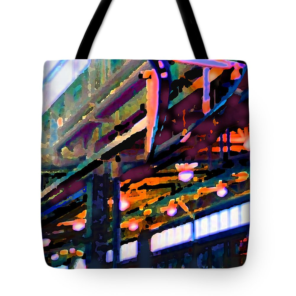 Abstract Tote Bag featuring the photograph panel two from Star Factory by Steve Karol