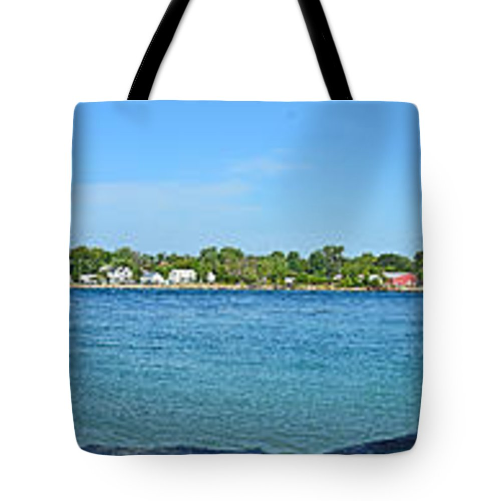 Blurred Tote Bag featuring the photograph Panorama 1 by John Winstone