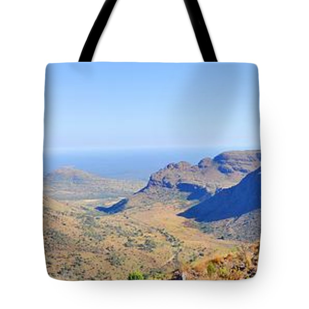 Mountain View Tote Bag featuring the photograph Panorama Mountain View by Stiaan Els