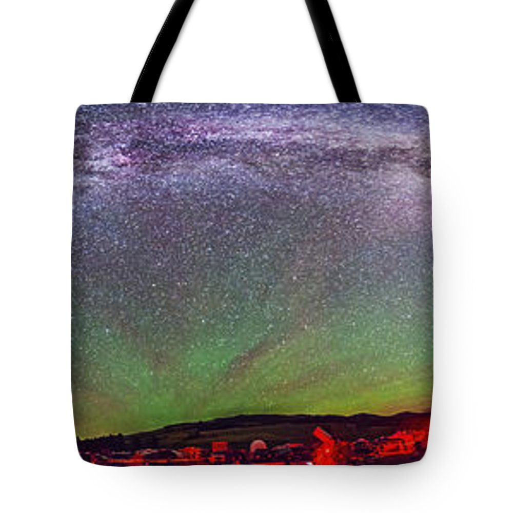 Big Dipper Tote Bag featuring the photograph Panorama Of Milky Way Above The Table by Alan Dyer