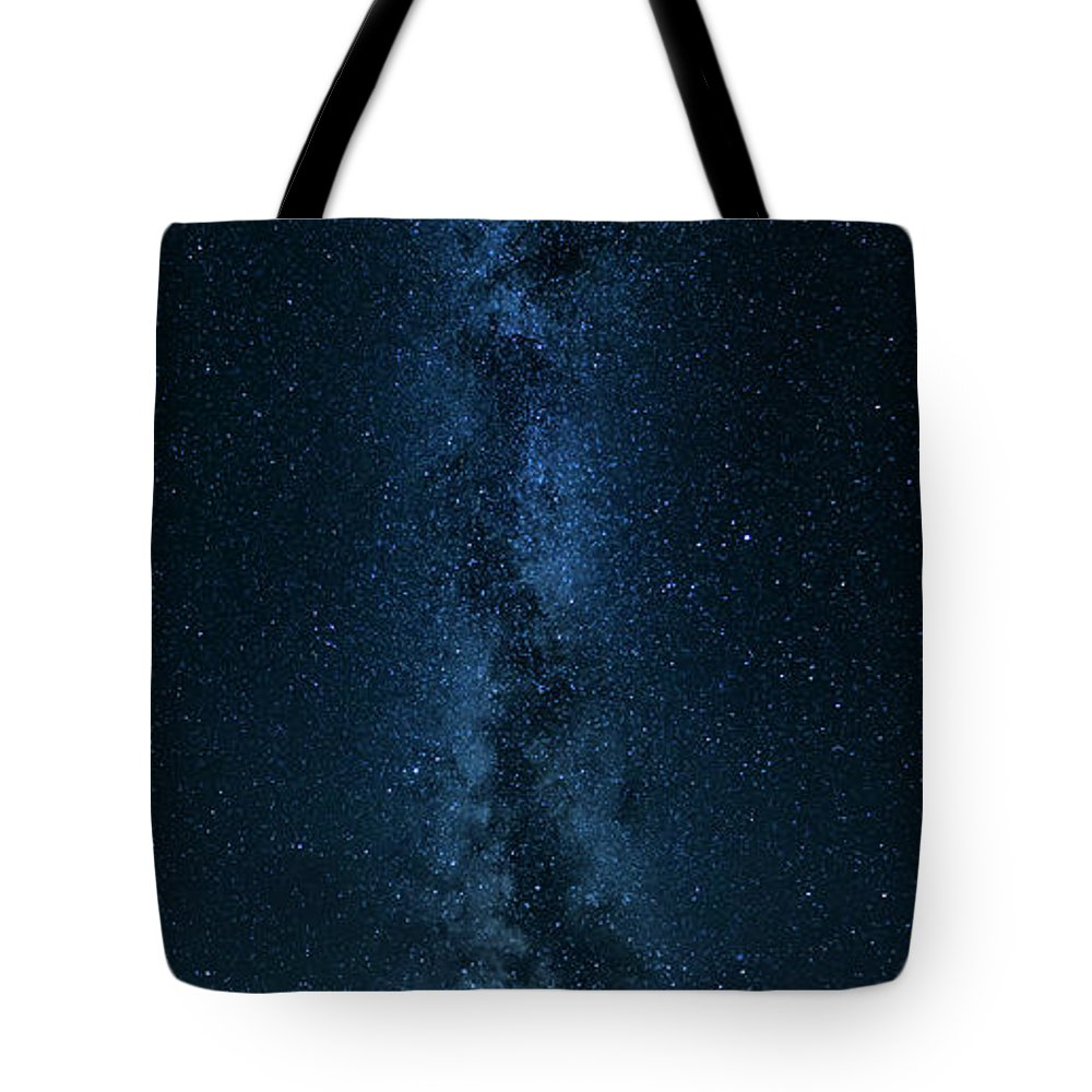 Bulgaria Tote Bag featuring the photograph Panorama Of The Milky Way by Nikolay Stoimenov