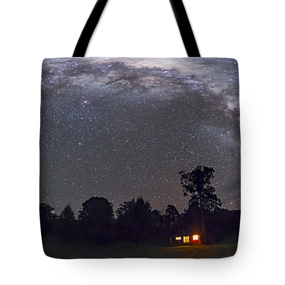 Australia Tote Bag featuring the photograph Panorama Of The Southern Night Sky by Alan Dyer