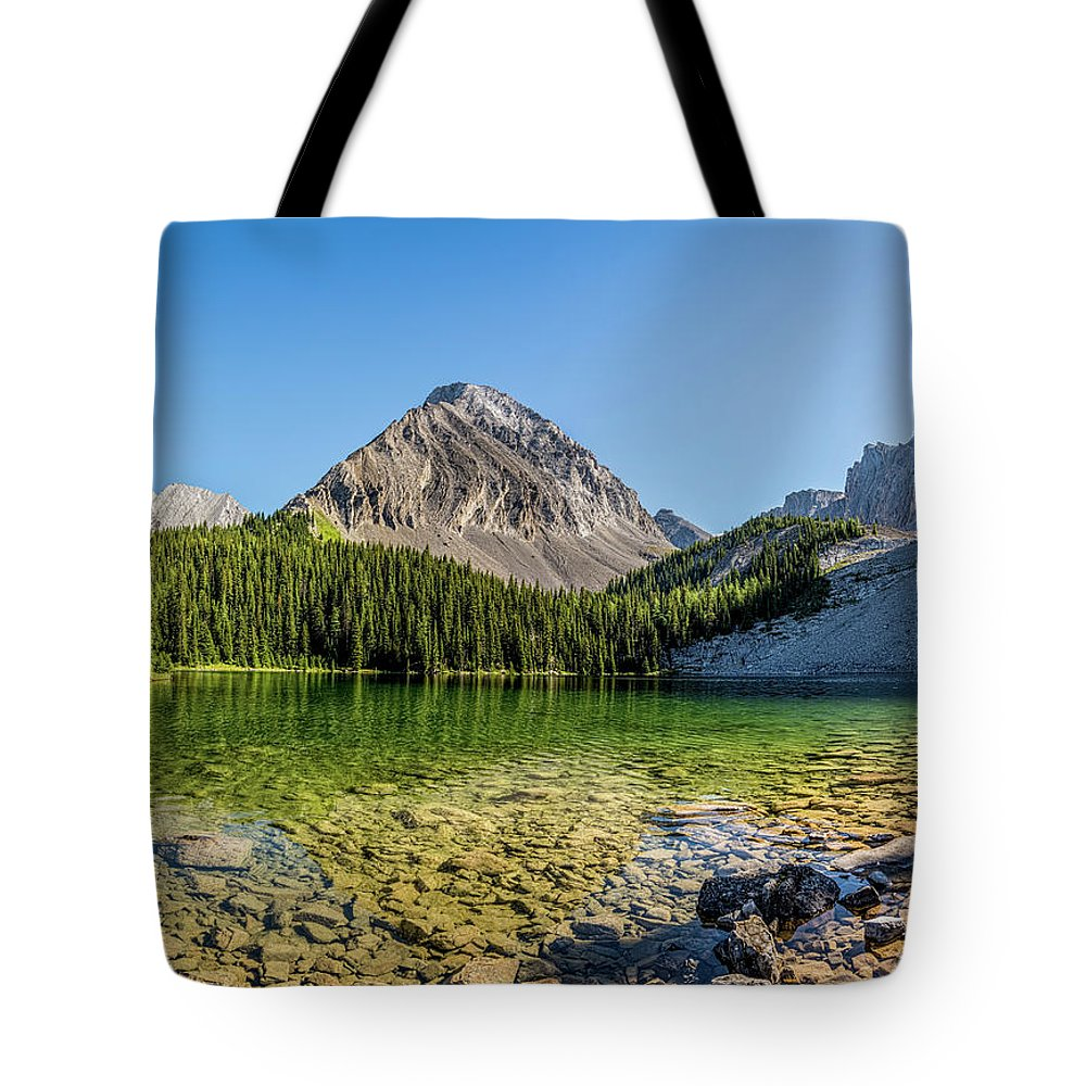 Canada Tote Bag featuring the photograph Panoramic View Of Chester Lake by Yves Gagnon