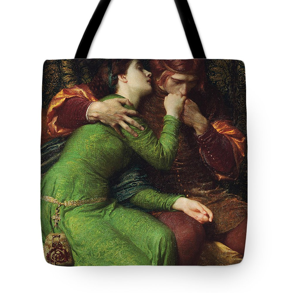 Dicksee Tote Bag featuring the painting Paolo And Francesca by Sir Frank Dicksee