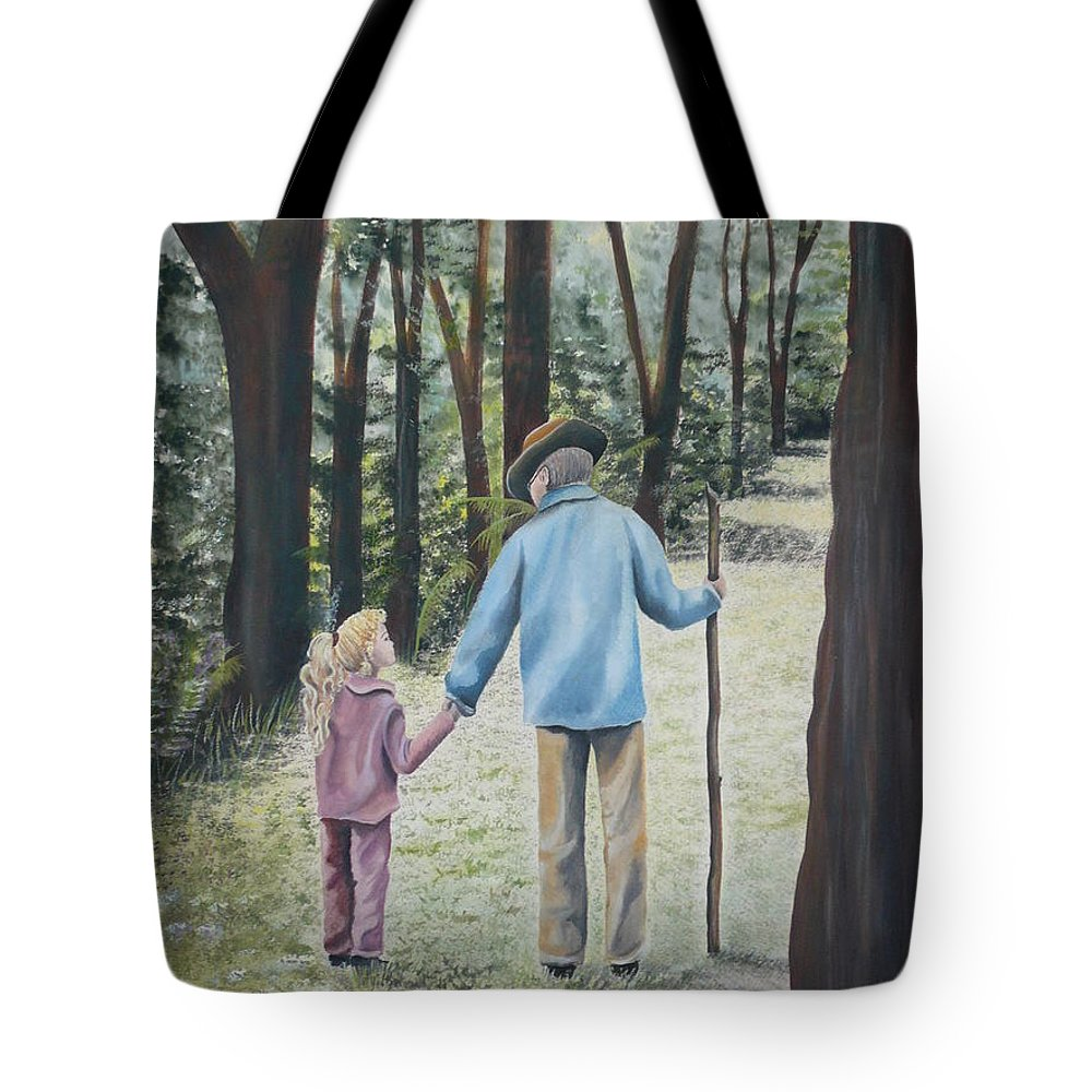 Grandfather Tote Bag featuring the painting Papa by Kris Crollard
