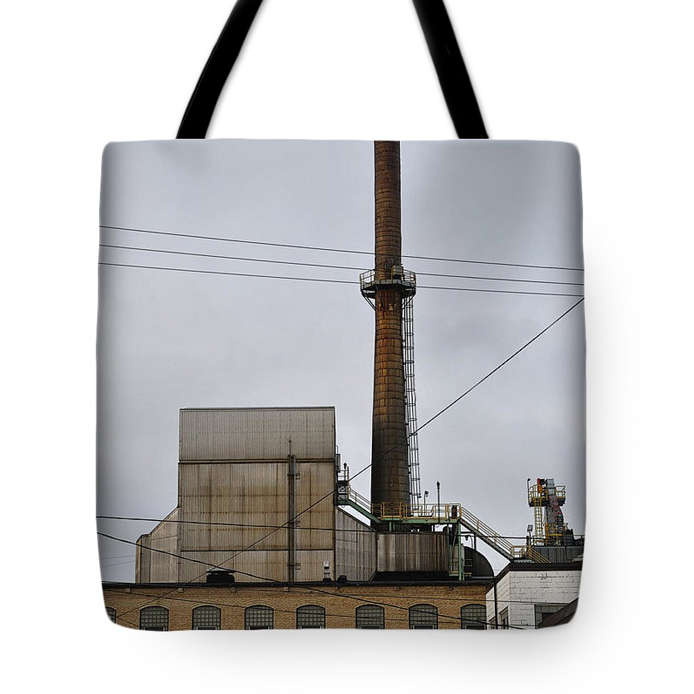Paper Mill Tote Bag featuring the photograph Paper Mill 2 by Tim Nyberg