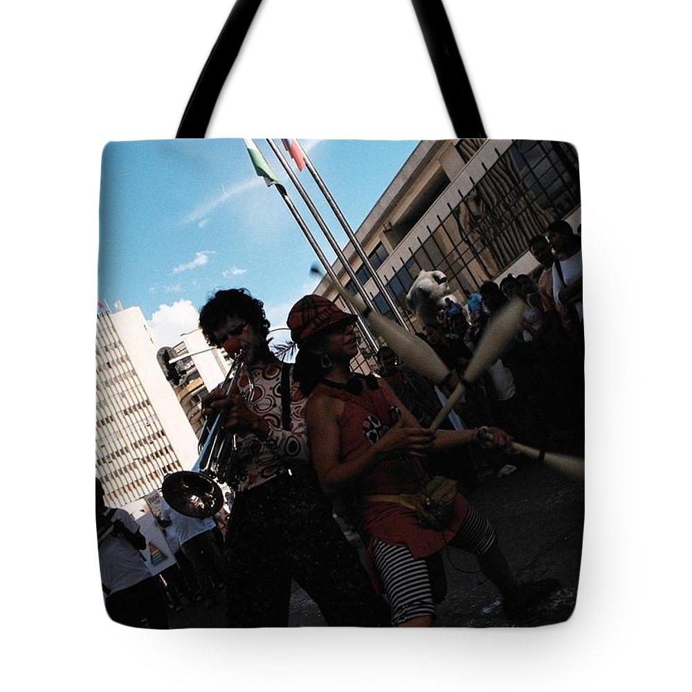 Parade Tote Bag featuring the photograph Parade Performance by David Cardona