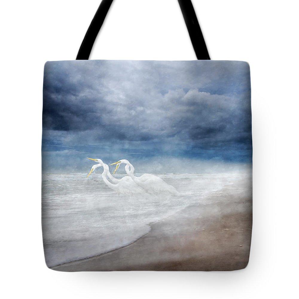 Knapp Tote Bag featuring the digital art Paradise Dreamland by Betsy Knapp
