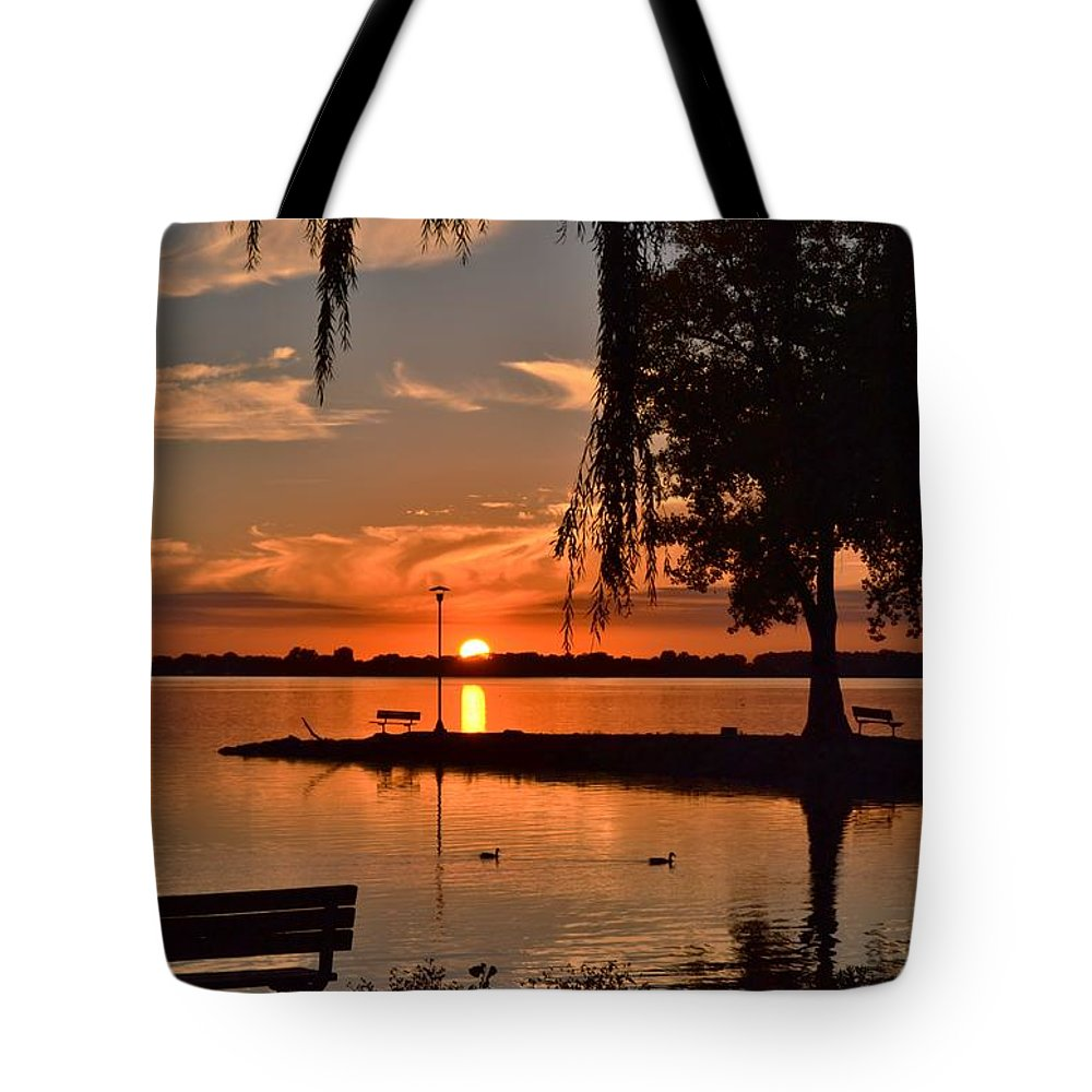 Sunset Tote Bag featuring the photograph Paradise In Wisconsin by Mandy Frank