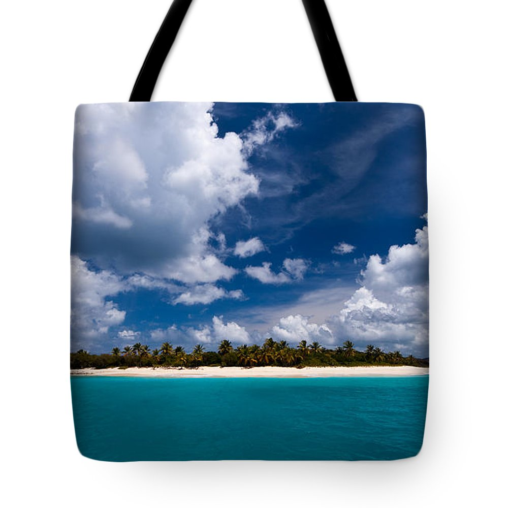 3scape Tote Bag featuring the photograph Paradise Is Sandy Cay by Adam Romanowicz